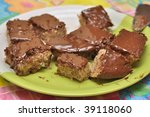 cake truffle with black...   Shutterstock . vector #39118060