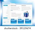 website template | Shutterstock .eps vector #39119674
