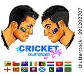 illustration of cricket player... | Shutterstock .eps vector #391202707