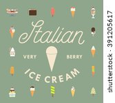 ice cream flat icon with a... | Shutterstock .eps vector #391205617