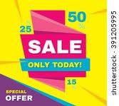 sale vector banner   special... | Shutterstock .eps vector #391205995