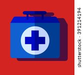 medical bag. case  first help.... | Shutterstock .eps vector #391214194