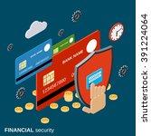 financial security  online... | Shutterstock .eps vector #391224064