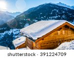 alps holiday cottage | Shutterstock . vector #391224709