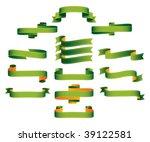 ribbons  scrolls  banners  ...   Shutterstock .eps vector #39122581
