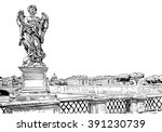 rome city hand drawn sketch.... | Shutterstock .eps vector #391230739