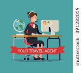 your travel agent vector...