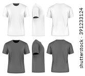 Men's Short Round Neck T Shirt...