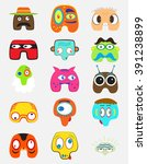 set of funny monsters character.... | Shutterstock .eps vector #391238899