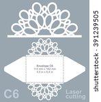 vector die cut envelope... | Shutterstock .eps vector #391239505