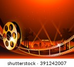 illustration of a film stripe... | Shutterstock .eps vector #391242007