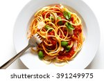 Detail Of Messy Spaghetti With...