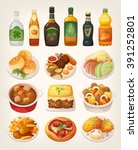 set of delicious colorful... | Shutterstock .eps vector #391252801