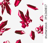 red ruby crystal pattern on... | Shutterstock .eps vector #391260817