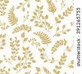 seamless pattern gold glitter... | Shutterstock .eps vector #391265755