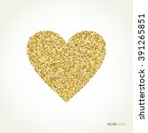 Gold Glitter Heart  Sign...
