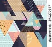 art geometric background  | Shutterstock .eps vector #391270597