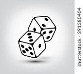 vector dice icon. vector design ... | Shutterstock .eps vector #391280404