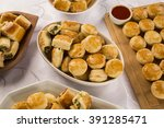 mixed brazilian snack on the... | Shutterstock . vector #391285471