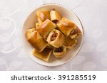 brazilian snack. pepperoni... | Shutterstock . vector #391285519