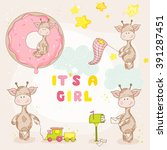 Cute Girl Giraffe Set. Baby...