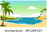 beach background for you design | Shutterstock .eps vector #391289107