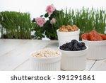 homemade muesli with porridge... | Shutterstock . vector #391291861