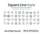 shopping and advertising icon... | Shutterstock .eps vector #391292041