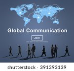 global communication connection ... | Shutterstock . vector #391293139