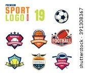 sport logo design set | Shutterstock .eps vector #391308367