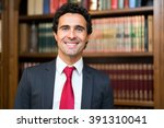 confident lawyer portrait | Shutterstock . vector #391310041