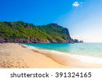 Beach Of Cleopatra With Sea An...