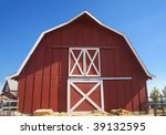 Red Barn With Blue Sky...