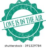 love is in the air rubber stamp ...