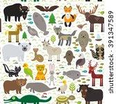 seamless pattern bison bat... | Shutterstock . vector #391347589