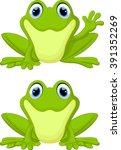 cute frog cartoon | Shutterstock .eps vector #391352269