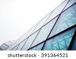 modern glass building structure ... | Shutterstock . vector #391364521