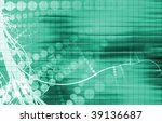 digital media with a modern... | Shutterstock . vector #39136687
