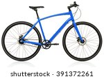 new blue bicycle isolated on a... | Shutterstock . vector #391372261