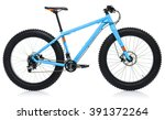 new blue bicycle isolated on a... | Shutterstock . vector #391372264