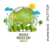 world water day concept with... | Shutterstock .eps vector #391377529
