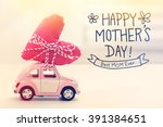 happy mothers day message with... | Shutterstock . vector #391384651