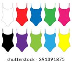 set of swimsuits with straps in ...