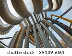 outdoor pipelines in the... | Shutterstock . vector #391395061