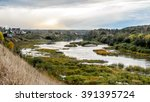 the marshy bend of the river... | Shutterstock . vector #391395724