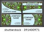 set of business card template ... | Shutterstock .eps vector #391400971