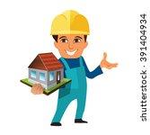 worker  builder holding ...   Shutterstock .eps vector #391404934