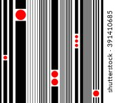 seamless stripe and circle... | Shutterstock .eps vector #391410685