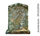 Old Ancient Tombstone Isolated...