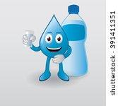 elegant water mascot vector ... | Shutterstock .eps vector #391411351